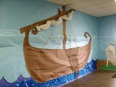 Bible boat wall decoration