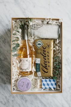 Photography : Katie Jameson Read More on SMP: http://www.stylemepretty.com/living/2016/12/17/diy-bubble-bath-gift-box/