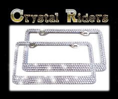 500 crystals License plate frames Crystals bling diamond rhinestone Sparkle two 2pair custom hand made via Etsy