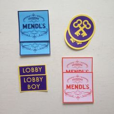 Wes Anderson The Grand Budapest Hotel Sticker Fan Set by JennisPrints Etsy