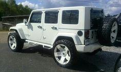 White on white jeep