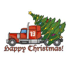 b97e8d019da Red truck with Christmas tree SVG file Silhouette Christmas tree SVG for  Cricut Red truck Svg