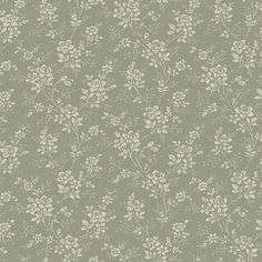 Green Floral Wallpaper, Rose Wallpaper, Vintage Roses, Vintage Green, Vintage Style Wallpaper, Cosy Kitchen, Romantic Room, Kitchens And Bedrooms, Perfect Wallpaper