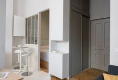Small Apartment Interior, Small Apartments, Decoration, Tiny House, Coups, How To Plan, Cabinet, Interior Design, Storage