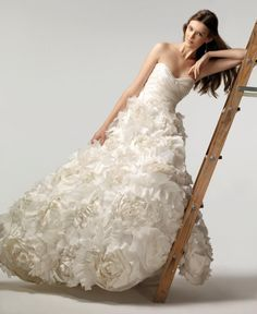 """Sunday Rose"" Wedding Dress by Monique Lhuillier"