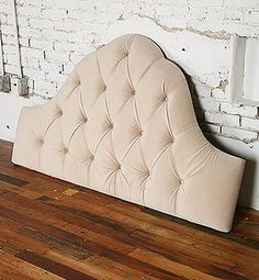 Tufted headboard.
