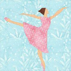 (7) Name: 'Quilting : Ballet Dancer- A Paper Pieced Pattern