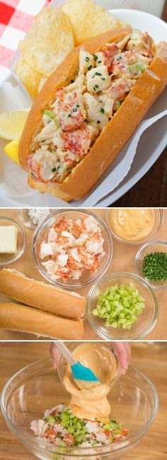 Get this delicious and easy-to-follow Lobster Roll recipe on JustOneCookbook.com. Sweet, succulent lobster meat coated with spicy mayo is piled into a buttery toasted bun!