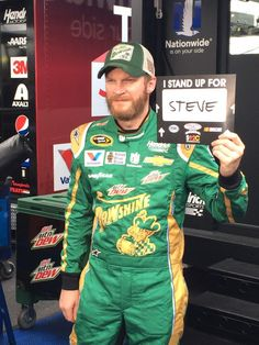 4-17-15 Dale showing his support of Steve Byrnes who is fighting cancer