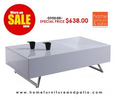 Whiteline Modern Living Samantha Coffee Table - Close Out Sale - 30% Off! #sale #coffeetable
