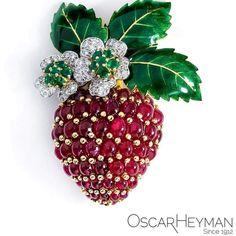 Stawberry brooch by Oscar Heyman