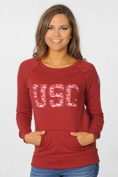 South Carolina Gamecocks Pullover with Lace Appliqué - University Girls Apparel