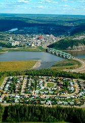 I would love to find some real estate in Fort McMurray on a hill or something, overlooking the city.