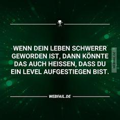 Ich steige in der Schule ein Level auf The Words, Cool Words, German Quotes, Calm Down, True Facts, Statements, Life Motivation, So True, Quote Of The Day
