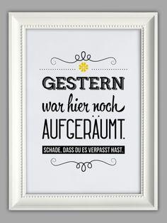 """Originaldruck - """"AUFGERÄUMT"""" Kunstdruck - ein Designerstück von…"""