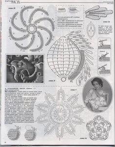 "Photo from album ""Журнал мод on Yandex. Irish Crochet Patterns, Crochet Motif, Russian Crochet, Irish Lace, Views Album, Hand Stitching, Crochet Projects, Crochet Tutorials, Vintage World Maps"