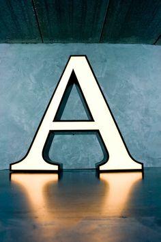 Channel Sign Letter 'A' White & Black van MarketForTheCool op Etsy, $245.00