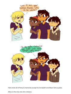 Mean girls Percy Jackson by thecottonproject on tumblr