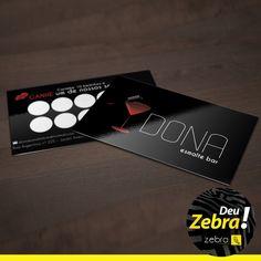 Cartão de Fidelidade da DONA Esmalte Bar. Deu Zebra, mais uma vez! #DeuZebra #publicidade #cartão #fidelidade #comunicação #Dona #CartãoDeVisitas #personalidade #IdentidadeVisual #SejaVisto