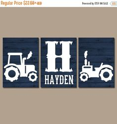 Tractor Wall Art Canvas or Prints Rustic Country by TRMdesign