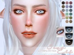 Iced Elf Glittering Eye Mask by Screaming Mustard at TSR via Sims 4 Updates