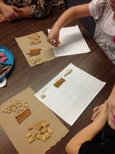 edible math place value lesson Math Classroom, Kindergarten Math, Teaching Math, Teaching Ideas, Fun Math, Math Activities, Math Math, Math Stations, Math Centers
