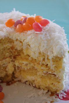 """Isabelle Thornton"" Le Chateau des Fleurs: Easter lemon cream coconut cake egg nest recipe, great for a special occasion!"