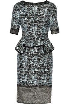 Jonathan Simkhai Cotton-blend jacquard peplum dress | THE OUTNET