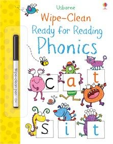 Buy Wipe-Clean Ready for Reading Phonics by Jane Bingham at Mighty Ape NZ. This interactive book is the perfect introduction to phonics for young children. With the help of friendly monsters, children prepare for reading by t. Learning Phonics, Phonics Activities, Book Activities, Kindergarten Phonics, Literacy, Clean Book, Helping Children, Young Children