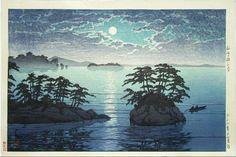 Kawase Hasui - Clair de lune à Matsushima
