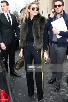 Olivia Palermo arrives at the Elie Saab Haute Couture Spring Summer 2016 show as part of Paris Fashion Week on January 27, 2016 in Paris, France.
