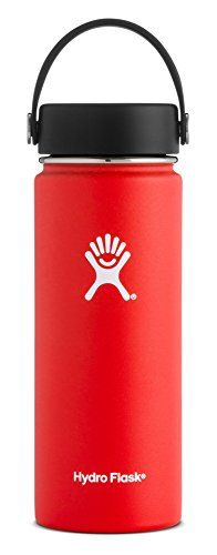 Hydro Flask 18 oz Double Wall Vacuum Insulated Stainless Steel Leak Proof Sports Water Bottle, Wide Mouth with BPA Free Flex Cap, Lava. For product & price info go to:  https://all4hiking.com/products/hydro-flask-18-oz-double-wall-vacuum-insulated-stainless-steel-leak-proof-sports-water-bottle-wide-mouth-with-bpa-free-flex-cap-lava/
