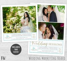 Wedding Marketing Board, Photoshop, Bridal Mini Session Template, Wedding Photography Marketing, Photography Marketing Flyer - 01-009