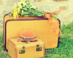 Yellow Suitcases. <3