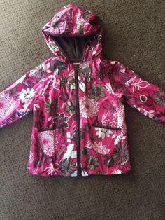 OLD NAVY Toddler Girls Pink Brown Flowers Hooded Rain Jacket Coat  Size 2T #OldNavy #RainCoat #Everyday