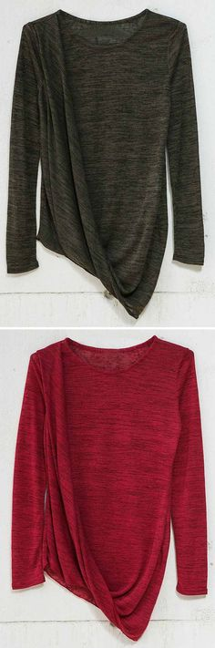 Take this totally chic look with 7 days shipping&easy return! This top features special inclined layer at front&irregular hem. Cozy in this Cupshe way Now!