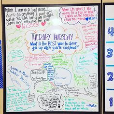 """120 Likes, 3 Comments - Hailey Fletcher (@5thgradeinflorida) on Instagram: """"Therapy Thursday! For those who asked on my last whiteboard post how I make this work for my…"""""""