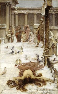 (Saint Eulalia). 1885-John William Waterhouse.