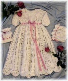 Free Crochet Pattern - Christening Dress - Crafts - Free Craft