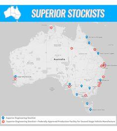 View the Superior Engineering list of Australian & International stockists.