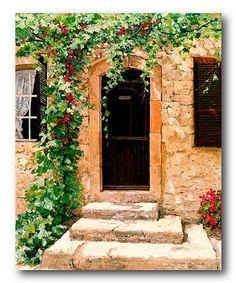 Look at this #zulilyfind! Tuscany Frontdoor Canvas Wall Art #zulilyfinds