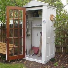 recycled doors garden tool shed - Google Search