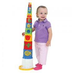 Giant Pyramid Stacker Great fun for little ones! Build them up and knock them down. Bold Colors, Colours, Bath Toys, Knock Knock, Little Ones, Children, Outdoor Decor, Fun, Young Children