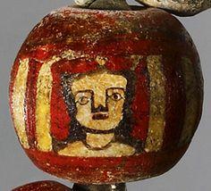 "ufansius: ""Mosaic glass bead necklace - Greek/Roman, 1st century BCE-1st century CE. """