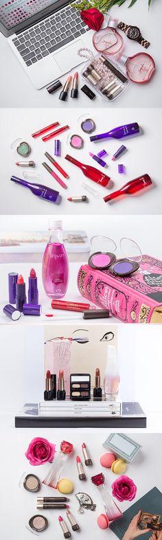 Inspire-se nas cores e fragrâncias dos perfumes na hora de criar o próximo look com suas maquiagens