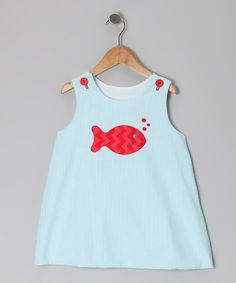 Take a look at this Turquoise & Red Fish Seersucker Jumper - Infant & Toddler by Buds 'n' Branches on #zulily today!