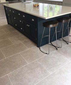 French country bathroom flooring charming large kitchen floor tiles and ideas yellow white near me delightful on extraordinary Limestone Flooring, Natural Stone Flooring, Grey Flooring, Flooring Ideas, Floors, Limestone Pavers, Grey Kitchen Floor, Grey Floor Tiles, Kitchen Floor Tiles