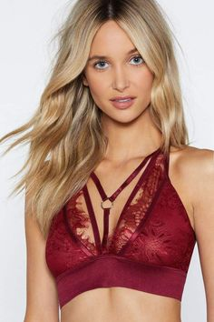 5d40f11836 Nasty Gal If Your Strappy and You know It Lace Bralette