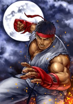 Ryu - the greatest character everrrrr. beat that Ken Masters