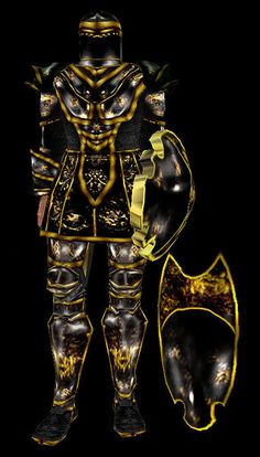 Ebony Armor - Morrowind // except I can't function without Boots of Blinding Speed
